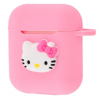 Чехол Colourful Case with Logo для Apple AirPods Hello Kitty