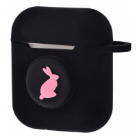 Чехол Colourful Case with Logo для Apple AirPods Pink Rabbit