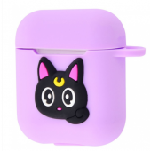 Чехол Colourful Case with Logo для Apple AirPods Sailor Moon Cat