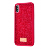 Чехол Bling World Grainy Diamonds (TPU) для iPhone Xs Max Red