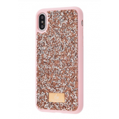 Чехол Bling World Grainy Diamonds (TPU) для iPhone Xs Max Rose Gold