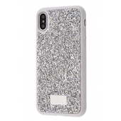 Чехол Bling World Grainy Diamonds (TPU) для iPhone Xs Max Silver