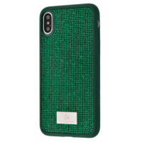 Чехол Bling World Circle Diamonds (TPU) для iPhone Xs Max Green