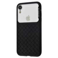 Чехол Baseus Glass Weaving Case iPhone Xr Black