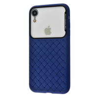 Чехол Baseus Glass Weaving Case iPhone Xr Blue