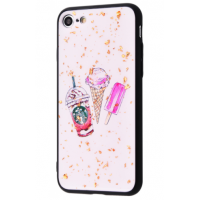 Чехол Confetti Fashion case My style (TPU) iPhone 7/8 White Ice Cream