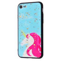 Чехол Confetti Fashion case My style (TPU) iPhone 7/8 White Unicorn