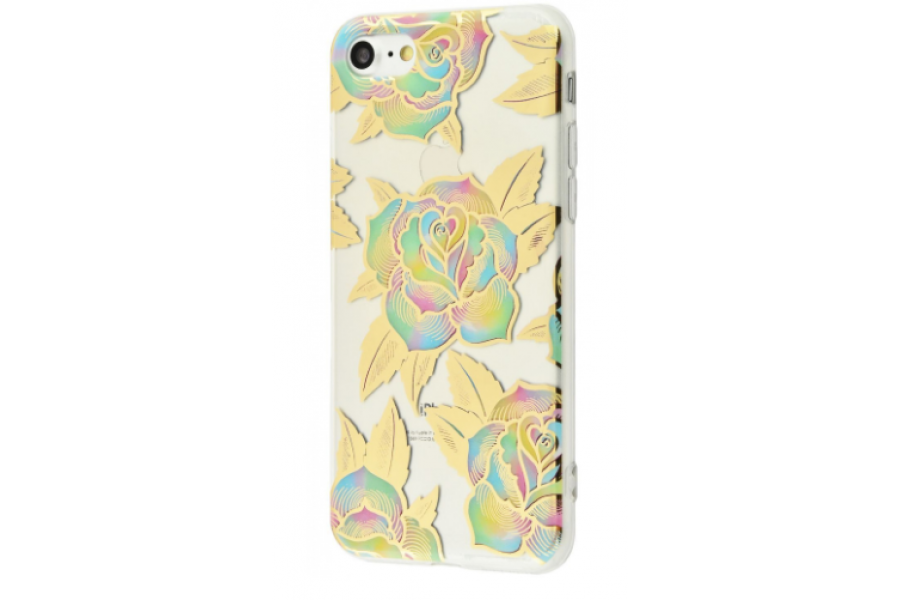 Чехол Beautiful plants case (TPU) iPhone 7/8 Gold