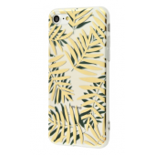 Чехол Beautiful plants case (TPU) iPhone 7/8 Green Gold