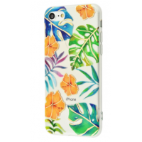 Чехол Beautiful plants case (TPU) iPhone 7/8 Orange