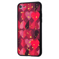 Чехол Leo Heart Confetti (TPU) iPhone 7/8 Red Hearts