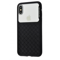 Чехол Baseus Glass Weaving Case iPhone X/Xs Black