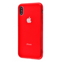 Чехол Glass iPhone case iPhone X/Xs Red
