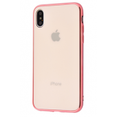 Чехол Glass iPhone case iPhone X/Xs Rose Gold