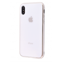 Чехол Glass iPhone case iPhone X/Xs White