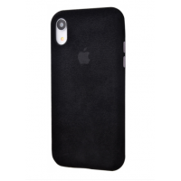 Чехол Alcantara 360 Protect iPhone Xr Black