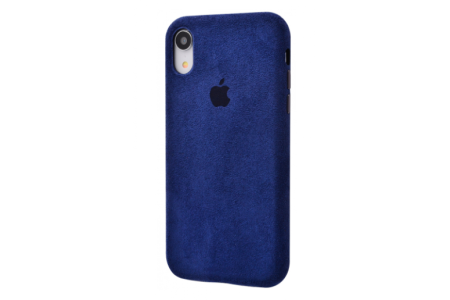 Чехол Alcantara 360 Protect iPhone Xr Midnight Blue