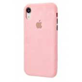 Чехол Alcantara 360 Protect iPhone Xr Pink Sand