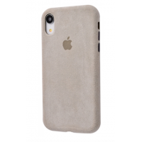 Чехол Alcantara 360 Protect iPhone Xr Stone