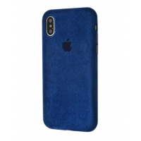 Чехол Alcantara 360 Protect iPhone X/Xs Midnight Blue