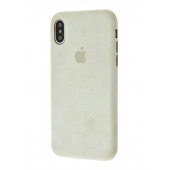 Чехол Alcantara 360 Protect iPhone X/Xs Stone