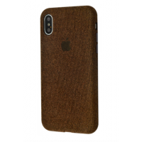 Чехол Textile cover 360 Protect iPhone Xs Max Brown