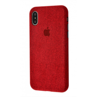 Чехол Textile cover 360 Protect iPhone Xs Max Red