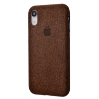 Чехол Textile cover 360 Protect iPhone Xr Brown