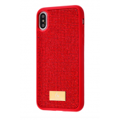 Чехол Bling World Circle Diamonds (TPU) iPhone X/Xs Red