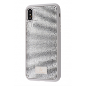 Чехол Bling World Circle Diamonds (TPU) iPhone X/Xs White