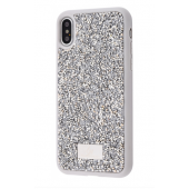 Чехол Bling World Grainy Diamonds (TPU) iPhone X/Xs Silver
