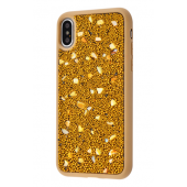 Чехол Bling World Pearl Diamonds (TPU) iPhone X/Xs Gold