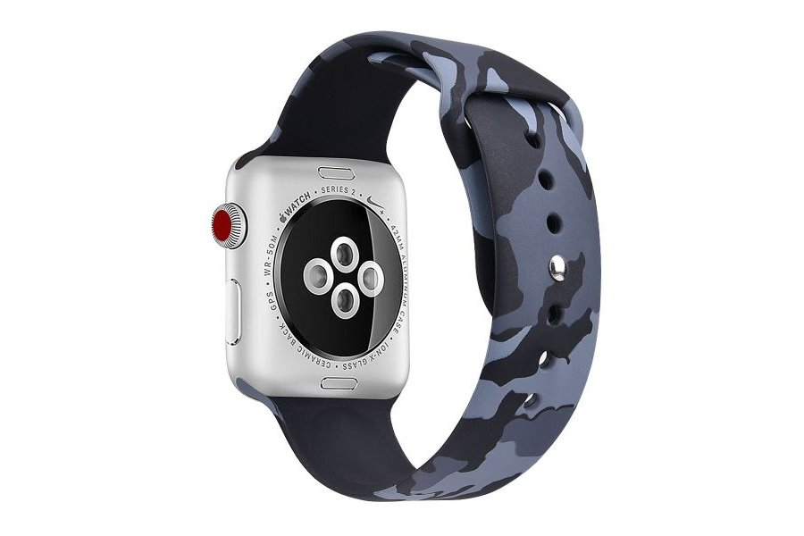 Ремешок Silicone Band for Apple Watch 42/44mm Grey Camouflage