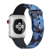 Ремешок Silicone Band for Apple Watch 42/44mm Blue Camouflage