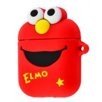 Чехол Cartoon Soft Case для AirPods Elmo