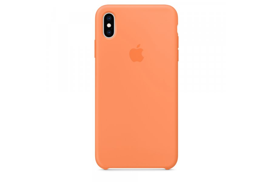 Чехол Silicone Case для iPhone Xs Max Papaya