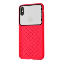 Чехол Weaving Case для iPhone Xs Max Red