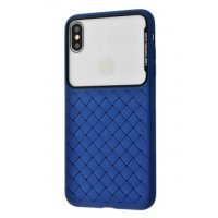 Чехол Weaving Case для iPhone Xs Max Blue
