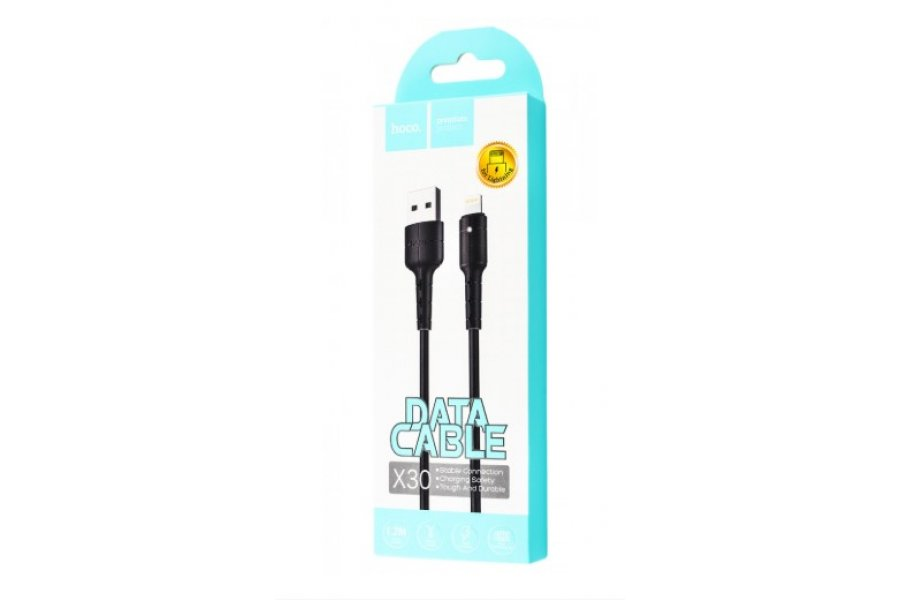 Кабель для зарядки Hoco X30 Star Lightning Cable 2A (1.2m) Black