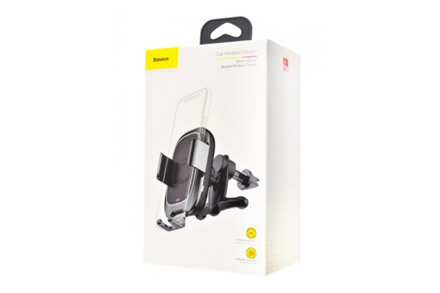 Беспроводное З/У Wireless Charger Baseus Smart Vehicle Bracket Black