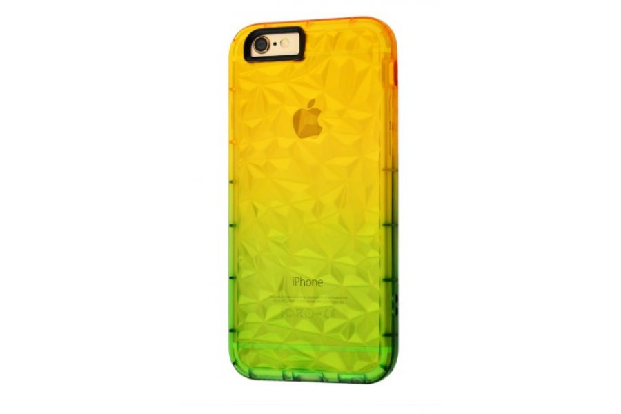 Чехол Gradient gelin case для iPhone 6/6s Yellow Green