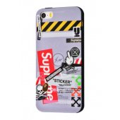 Чехол IMD case Young style для iPhone 5/5s/SE Supreme Grey