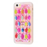 Чехол Lovely Stream для iPhone 5/5s/SE Colorful Pineapples
