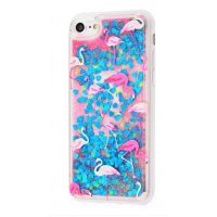 Чехол Lovely Stream для iPhone 5/5s/SE Flamingos And Blue Sparkles