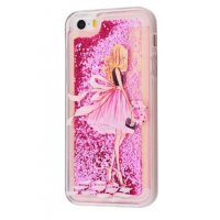 Чехол Lovely Stream для iPhone 5/5s/SE Girl In Pink Dress