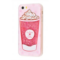 Чехол Lovely Stream для iPhone 5/5s/SE Ice Cream Coffee Pink