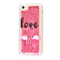 Чехол Lovely Stream для iPhone 5/5s/SE Love Flamingos