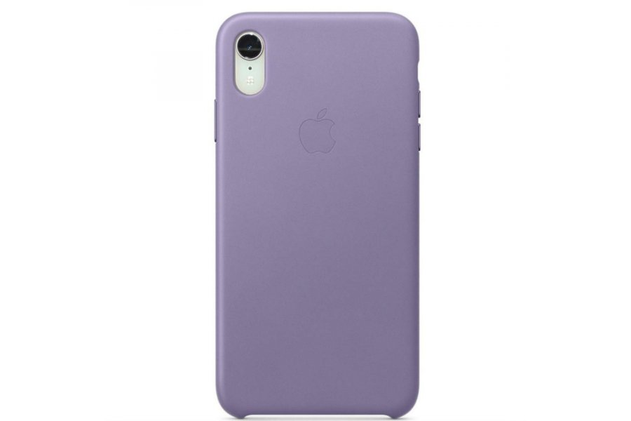 Чехол iPhone XR Leather Case Lilac