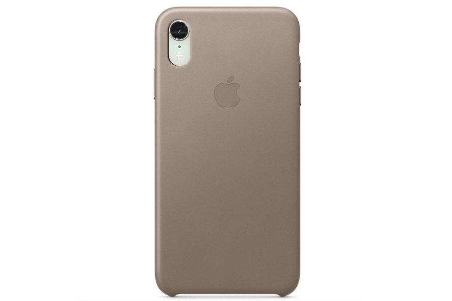 Чехол iPhone XR Leather Case Taupe