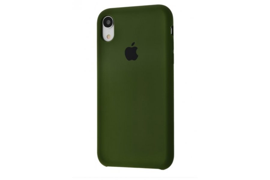 Силиконовый чехол Apple iPhone Xr Silicone Case OEM Army Green